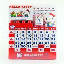 Sanrio Hello Kitty Block Calendar Red Kawaii Cute From Japan
