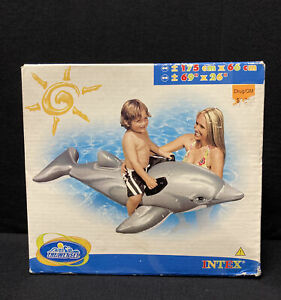 """Intex The Wet Set Inflatable 2006 Dolphin Ride On 69""""x26"""" #58535"""