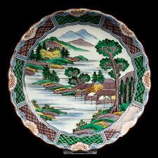 Le Japon 20. JH. assiette-A Japanese KUTANI porcelain dish-shosha giapponese