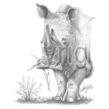 Rhinoceros Rhino HEAT PRESS TRANSFER for T Shirt Tote Bag Sweatshirt Fabric 269g
