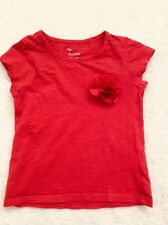 Girls Red 3D Flower Short Sleeve Top Age 3 Years from Matalan