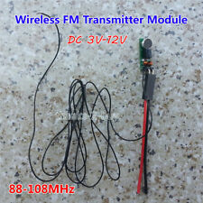 DC 3V-12V 6V 9V Micro Wireless Microphone Audio FM Transmitter Module 88-108MHz