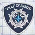 CANADA, VILLE D'AMOS FIRE DEPT PROTECTION INCENDIE PATCH
