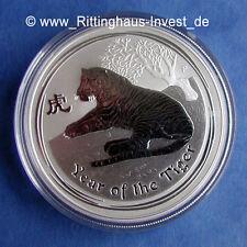 Lunar Serie 2 Tiger tiger 1Oz 2010 perth mint Australia silver silber coin 1 Oz