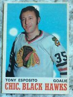 1970-71 OPC O PEE CHEE # 153 Tony Esposito 2ND YEAR CHICAGO BLACK HAWKS Ref 76