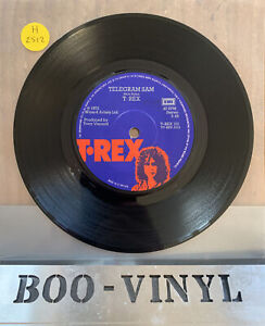 "T•Rex ‎– Telegram Sam Vinyl 7"" Single 1972 Glam Rock Marc Bolan"