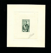 Monaco 1956 Prince Rainier Scott 360 Signed Sunken Die Artist Proof in Green