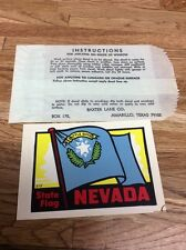 Vintage Battle Born Nevada State Flag sticker decal with sleeve