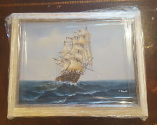 Nauticual/Seascape/Sailing Oil Painting of A Ship/Clipper by Y Jones - Reframed