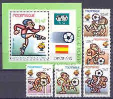 El fútbol WM 1982-Mocambique - 884-888, bl.13 ** mnh