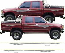 Toyota Hilux 1996 - 1997 replacement side stripes Decals Stickers Graphics