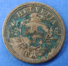 1876  Zwitserland - Switzerland  1 Rappen 1876 B  - KM# 3.1