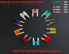 10PCS JEEP CAR FUSES SET MINI BLADE *10 15 20 25 30AMP* TOP QUALITY