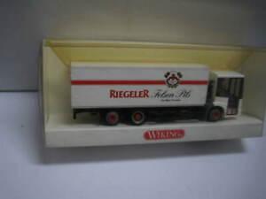 1/87 SCALE HO WIKING MERCEDES BENZ TRUCK RIEGELER BEER   OLD SHOP STOCK