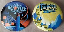 Disneyland AP Days Pin Set 2016 Tomorrowland & Fantasyland Passholder Button NEW