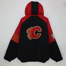 Calgary Flames NHL Insulated Starter Bomber Jacket Size Large