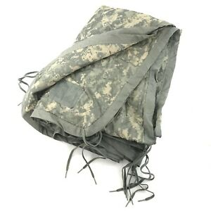 US Military All Weather Poncho Liner, ACU Camo Woobie Blanket, Army Camping