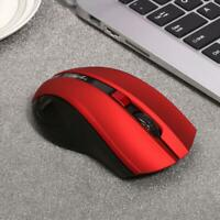 USB Wireless Mouse 6 Buttons 2.4G Optical Adjustable 2400DPI Gaming -Red