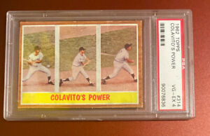 1962 topps colavitos Power #314 PSA 4 VG-EX