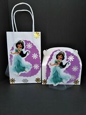 Princess Jasmine inspired Disney girl birthday party candy goody bags or boxes