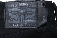 LEVIS 501XX 501 XX 501-1582 JET BLACK JEANS MENS 32 X 31 STRAIGHT LEG DENIM