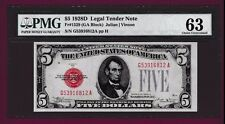 Fr. 1529  $5  1928 D   LEGAL TENDER UNITED STATES NOTE G 53916812 A PMG kEY DATE