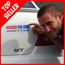 Hooker for Hire - Just Honk I'm Cheap - car magnet gag