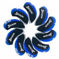 10PCS Black&Blue Qualität Neoprene Srixon Golf Club Iron Covers HeadCovers
