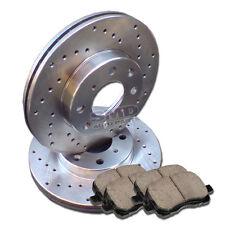 A0557 FIT Rear Cross Drilled Brake Rotors Ceramic Pads Kia Spectra 2005-2009