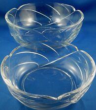 RARE Modern Style Glass LEAF BOWLS Duo (Medium & Small) KITCHEN VG In Australia