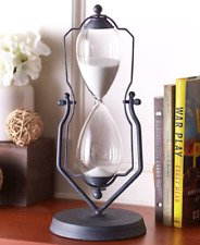 """Hourglass Timer One Hour Swivel Stand Kitchen Office Decor Metal Glass Sand 14"""""""