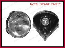 """New Black 6"""" Lucas Type DU42 Headlight Panther Triumph Ariel Douglas"""