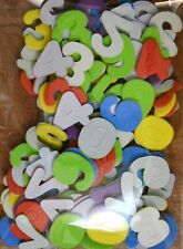 130 x Self Adhesive Foam Numbers in Assorted Colours 30mm Tall New