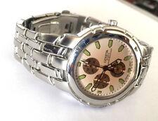 Geneva Quartz Japan Movt Wrist Watch St Steel Runs New Battery