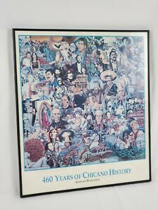 Vintage Framed 460 Years of Chicano History The Chicano Movement 1990