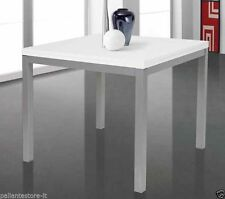 Tavolo quadrato 90x90 allungabile a 180x90 struttura metallo piano nobilitato