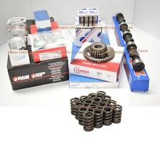 Chevy 350 5.7 MASTER Engine Kit Flat Pistons+ Torque Cam+Springs+Roller Timing