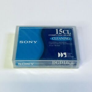 Sony DGD15CL Cleaning Tape Cartridge Computer Grade 15m/50 Feet