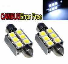 Canbus No Error White 6 SMD 36mm LED Festoon Bulbs C5W 6418 License Plate Light""