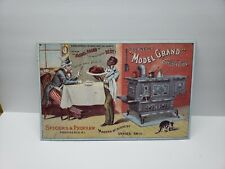 New listing Uncle Sam Model Grand Range 16 x 10.5 Reproduction Tin Sign 1980's Aaa Sign Co.