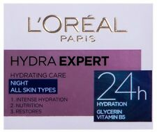 L'Oreal Hydra Expert Night Cream 24H Hydration Glycerin Vitamin B5 50 ml