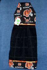 **NEW** NFL Cincinnati Bengals Black Hanging Kitchen Fridge Hand Towel #1108