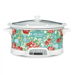 The Pioneer Woman Vintage Floral 7-Quart Programmable Slow Cooker New Sealed
