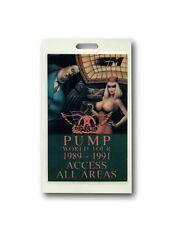 Aerosmith Authentic 1989 91 Pump Tour Backstage All Access Concert Pass Coa