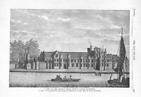 Ancient Royal Palace.Placentia.Greenwich.1879.River Thames.London.Architecture