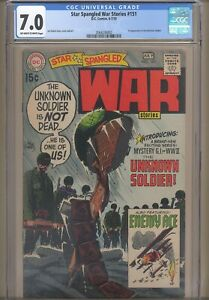 Star Spangled War Stories # 151 CGC 7.0 1st appearance Unknown Soldier! Kubert