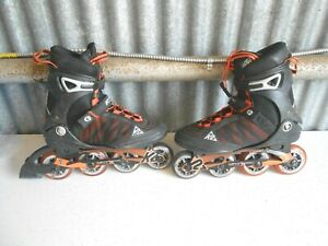 K2 FIT X Pro In-Line Skates Rollerblades Mens Size 9.5 Speed Lacing Black Nice
