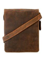 New Visconti 18410 Genuine Leather Messenger Bag Shoulder Handbag Large Tan