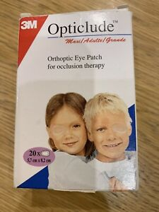 3M Opticlude Junior Orthoptic Eye Patches, 5cm x 6.2cm, Pack of 19