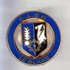 RARE PINS PIN'S .. GENDARMERIE C.A.G.N OR DORE 3D BLASON ARM LE BLANC 36 ~CN